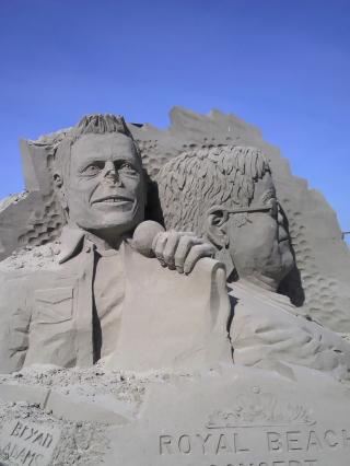 名残の国際砂の彫刻フェスティバル作品 (2)