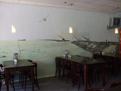 喫茶店の壁画 ズリッヒ Zurich の喫茶店 2011/06/06 Photo by Kohyuh