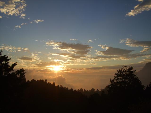 阿里山の夕日