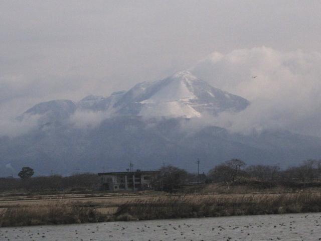ビオトープ池から伊吹山を望む 2013/01/17 Photo by Kohyuh