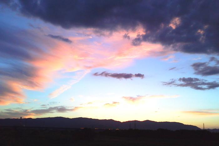 夕陽が沈んだあとも ・・・ 観月の葦原 2013/08/20 Photo by Kohyuh