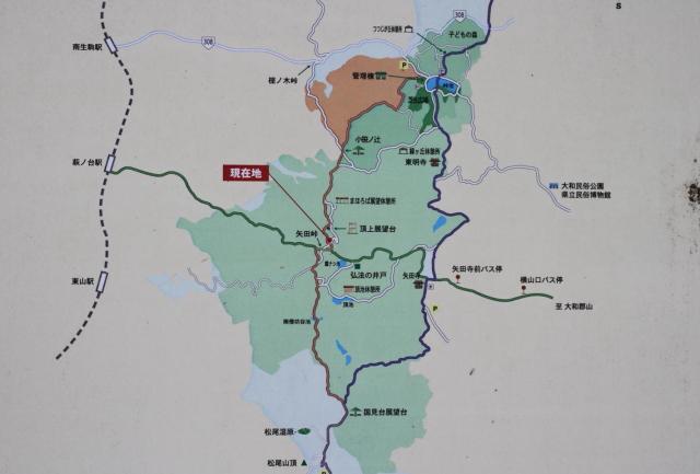 矢田丘陵地図